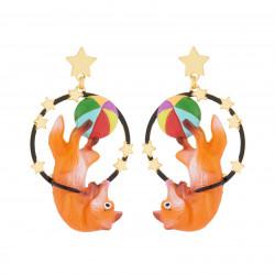 Boucles D'oreilles Boucles D'oreilles Pendantes Tige Renard Acrobate80,00€ AJCI108T/1N2 by Les Néréides