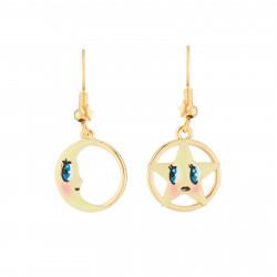 Boucles D'oreilles Boucles D'oreilles Pendantes Asymétriques Hook Lune Et Étoile