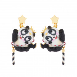 Boucles D'oreilles Boucles D'oreilles Pendantes Clip Panda Voltigeur