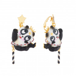 Boucles D'oreilles Boucles D'oreilles Pendantes Clip Panda Voltigeur75,00€ AJCI111C/1N2 by Les Néréides