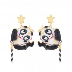 Acrobat Panda Dangling Stud...