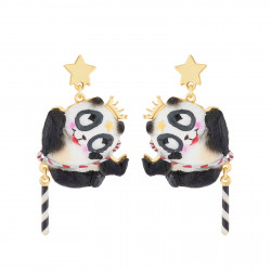 Boucles D'oreilles Boucles D'oreilles Pendantes Tige Panda Voltigeur75,00€ AJCI111T/1N2 by Les Néréides