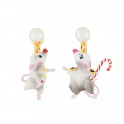 Boucles D'oreilles Boucles D'oreilles Pendantes Asymétriques Clip Souris Danseuses