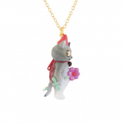Cat Thin Pendant Necklace