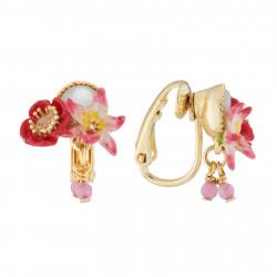 Boucles D'oreilles Clip Boucles D'oreilles Clip Coquelicot, Fleur Blanche Et Icaque Sur Nacre90,00€ AJED107C/1Les Néréides