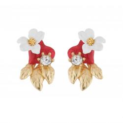 Boucles D'oreilles Tiges Boucles D'oreilles Tige Jasmin Sur Cœur Rouge70,00€ AJED108T/1Les Néréides