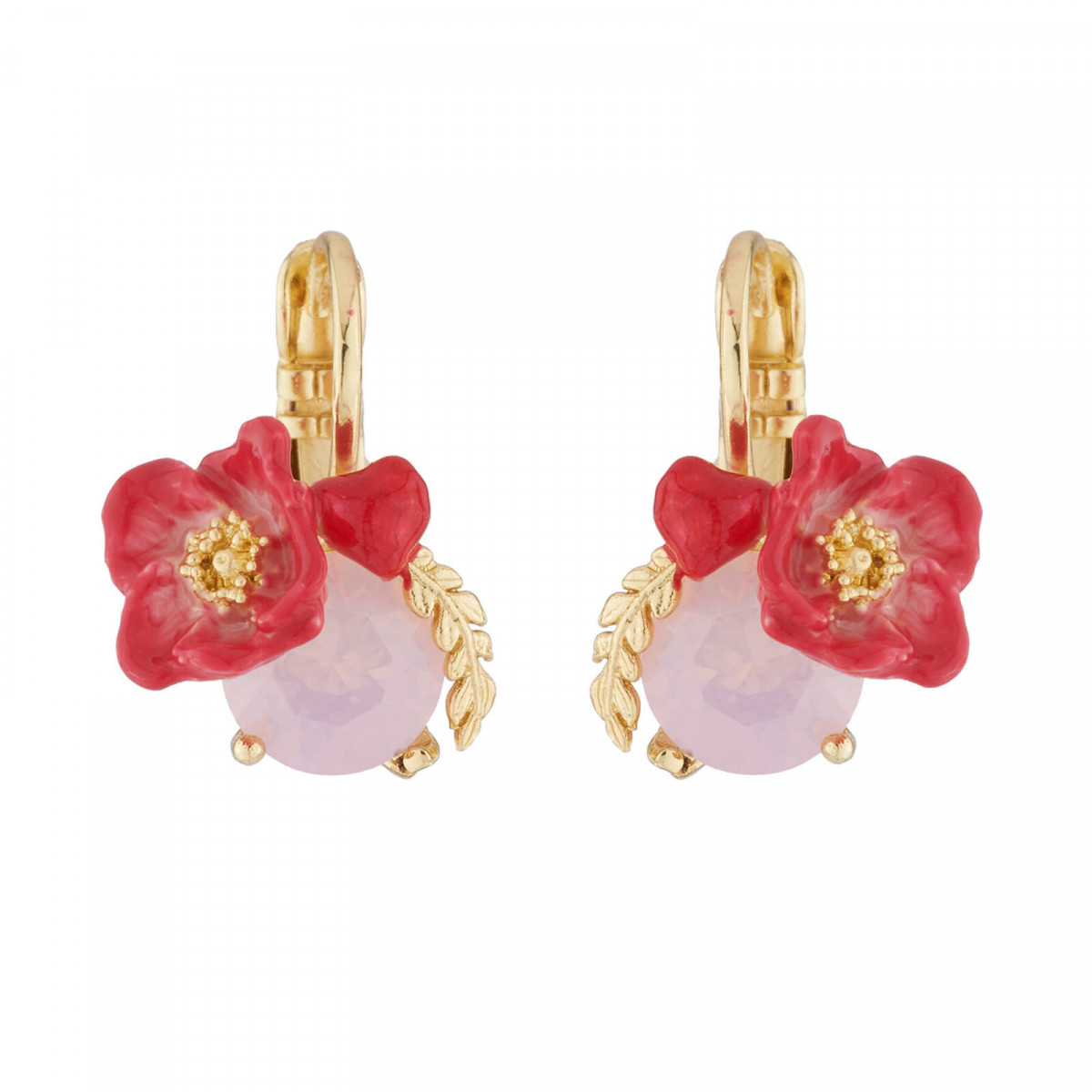 Hook earrings Paris mon amour red heart