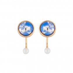 Boucles D'oreilles Boucles D'oreilles Tige Planète Bleue Et Lune55,00€ AJES101T/1N2 by Les Néréides