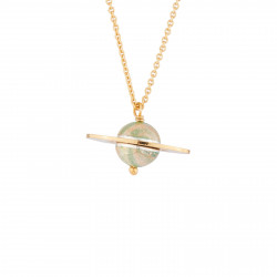 Saturn Pendant Thin Necklace