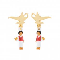 Boucles D'oreilles Boucles D'oreilles Clips Lampe Magique Et Aladdin50,00€ AJIL101C/1N2 by Les Néréides