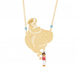 Colliers Collier Sautoir Génie Doré Et Pendentif Aladdin