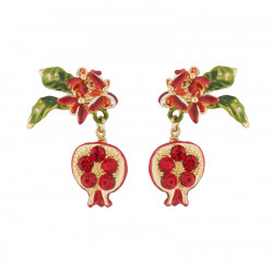 Pomegranate Dangling Stud...