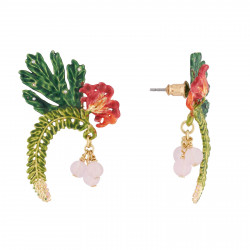 Boucles D'oreilles Tiges Boucles D'oreilles Tige Feuilles Tropicales, Passiflore Et Icaques
