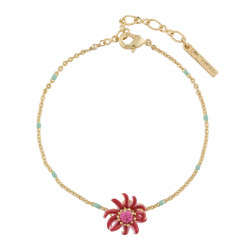 Passion Flower Thin Bracelet
