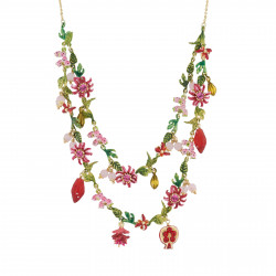 Colliers Plastrons Collier Deux Rangs Jardin Tropical