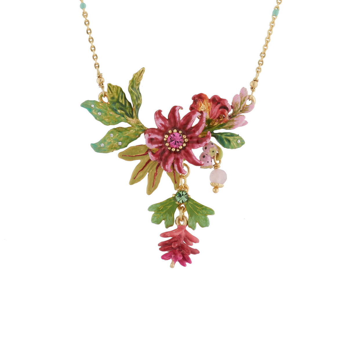 Colliers Pendentifs Collier Fin Bananes Roses