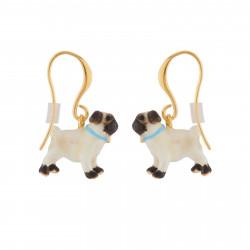 Pug Hook Earrings
