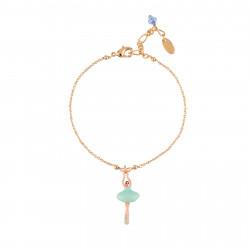 Bracelets Fins Bracelet Mini Ballerine En Tutu Bleu