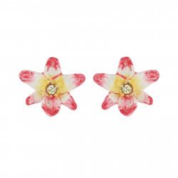 Boucles D'oreilles Tiges Boucles D'oreilles Tiges Fleur Tropicale Et Cristal90,00€ AJLC103T/1Les Néréides