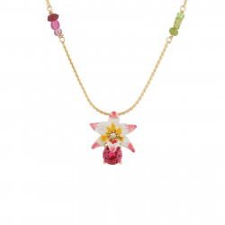 Collar Largo Flor Tropical,...