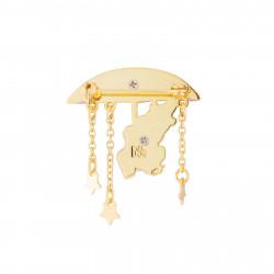 Accessoires Broche Hippopotame Sous Son Ombrelle