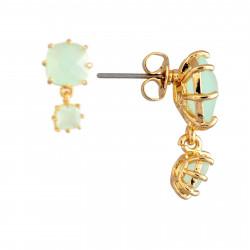 Boucles D'oreilles Pendantes Boucles D'oreilles Tiges 2 Pierres Carrées La Diamantine Vert D'eau60,00€ XLD138T/1Les Néréides