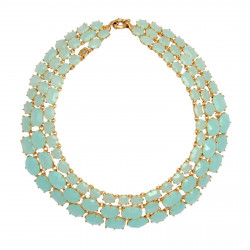 De Luxe 3 Rows Green Necklace