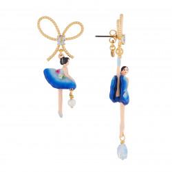 Boucles D'oreilles Pendantes Boucles D'oreilles Asymétriques Tige Ballerine Bleu Roi Et Pierre90,00€ AJDD108T/1Les Néréides