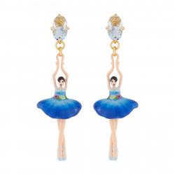 Boucles D'oreilles Pendantes Boucles D'oreilles Tige Ballerine Bleu Roi Et Nœud