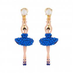 Boucles D'oreilles Boucles D'oreilles Clip Ballerine Strass Bleu Roi