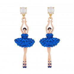 Boucles D'oreilles Pendantes Boucles D'oreilles Tige Ballerine Strass Bleu Roi110,00€ AJDDL115T/1Les Néréides