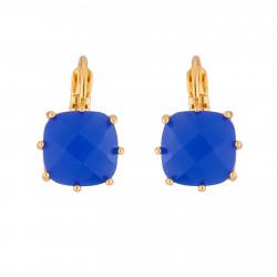Boucles D'oreilles Dormeuses Boucles D'oreilles Dormeuses La Diamantine Pierre Carrée Bleu Roi