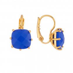 Boucles D'oreilles Boucles D'oreilles Dormeuses La Diamantine Pierre Carrée Bleu Roi