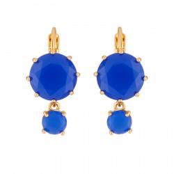 Boucles D'oreilles Dormeuses Boucles D'oreilles A Dormeuse La Diamantine 2 Pierres Bleu Roi