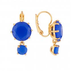 Boucles D'oreilles Boucles D'oreilles A Dormeuse La Diamantine 2 Pierres Bleu Roi