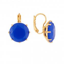 Boucles D'oreilles Boucles D'oreilles Dormeuse La Diamantine Pierre Ronde Bleu Roi