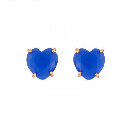 Boucles D'oreilles Tiges Boucles D'oreilles Tige Cœur Pierre Bleu Roi La Diamantine50,00€ AJLD145T/1Les Néréides