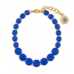 Bracelets Fins Bracelet Fin Luxe Un Rang De Pierres Bleu Roi La Diamantine