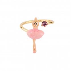 Bagues Ajustables Bague Ajustable Mini Ballerine En Tutu Rose