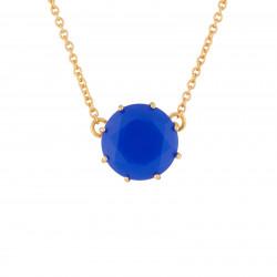 Colliers Pendentifs Collier Pendentif Pierre Ronde Bleu Roi La Diamantine