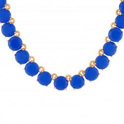 Colliers Collier Ras De Cou Luxe Pierres Bleu Roi La Diamantine