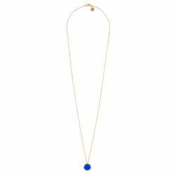 Colliers Collier Sautoir 1 Pierre Ronde Bleu Roi La Diamantine