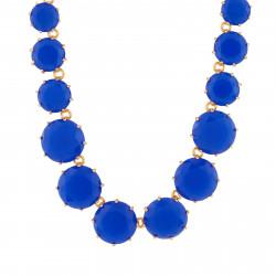 Colliers Sautoirs Collier Sautoir Pierres Rondes Bleu Roi La Diamantine