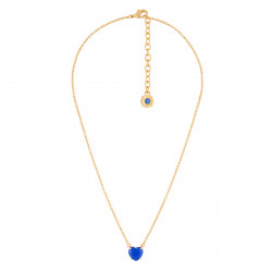 Colliers Collier Fin Pierre Cœur Bleu Roi La Diamantine