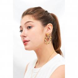 Boucles D'oreilles Créoles Asymétriques La Belle Et La Bête