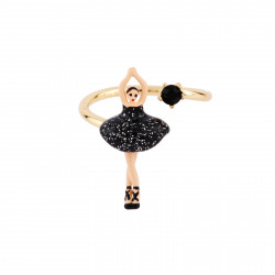 Bagues Ajustables Bague Ajustable Mini Ballerine En Tutu Noir