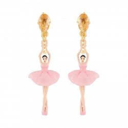 Boucles D'oreilles Clip Boucles D'oreilles Clips Ballerine Rose Et Pierre95,00€ RDD115C/2Les Néréides