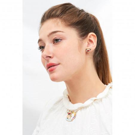 Necklace 38cm La Diamantine 6 stones light honey