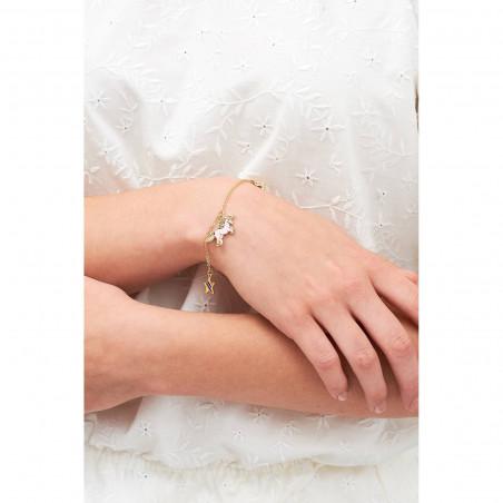 Necklace 40cm La Diamantine mutli rond stones light honey