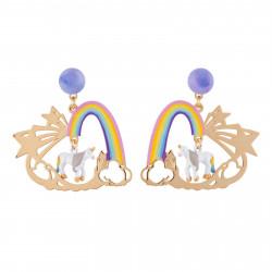 Boucles D'oreilles Boucles D'oreilles Licorne Et Arc-en-ciel